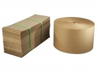 Bølgepap i ruller og ark
