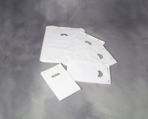 Bærepose blok P4 HD hvid 18my 245x410mm 2000stk/ka