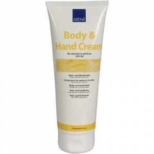 Hud- og håndcreme, Abena, 200 ml, uden farve og parfume, 35% fedt
