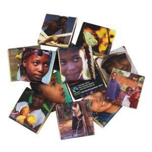Chokolade, Fairtrade, mørk 74% økologisk cacao, 183 stk.