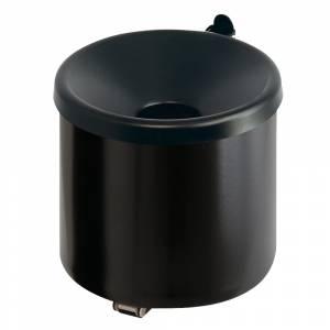 Askebæger, klar til vægmontering, brandsikker, H: 16cm Ø:16cm sort