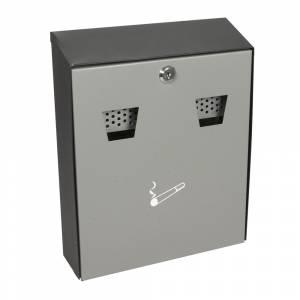 Askebæger t/ væg, brandsikker H:32cm, grå