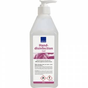 Hånddesinfektionsgel, Abena, 600 ml, natur, 85% ethanol, med pumpe