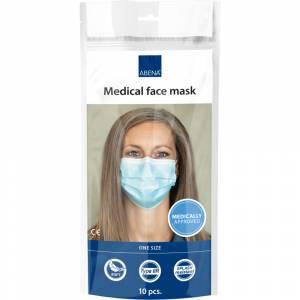 Ansigtsmaske med øreelastikker, type IIR, 10 stk. pak 3-lags, blå
