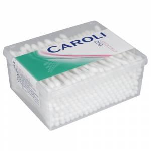Vatpind, Caroli, 7,5cm, hvid, vat i begge ender, usteril