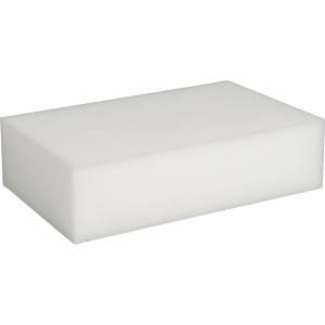 Slibesvamp, 11x5,5x2,7cm, hvid, melamin, fin slibeeffekt