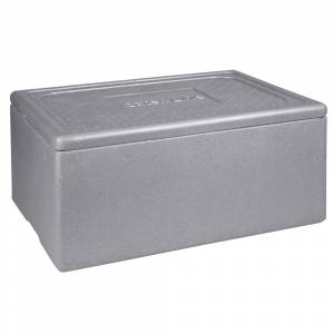 Termokasse 1/1 GN Abena Cater-Line, 60x40x29cm, 43 l, grå, EPS, 1-rums, standard