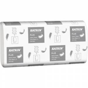 Håndklædeark, Katrin Plus, 3-lags, W-fold, 34x23,5cm, 8,5 cm, hvid, 100% nyfiber