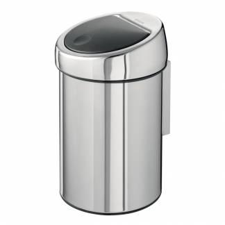 Hygiejne beholder, Brabantia Touch bin, 3 l, stål, inderspand i plast