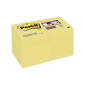 Post-it Super Sticky Notes 51x51mm Gul - 12blk/pk