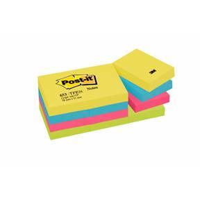Post-it Notes 38x51mm Energetic - 12 blokke