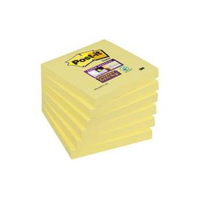 Post-it Super Sticky Notes 76x76mm Gul - 6blk/pk
