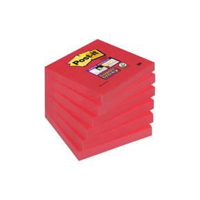 Post-it Super Sticky Notes 76x76mm Poppy - 6blk/pk