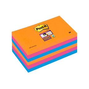 Post-it Super Sticky Notes 76x127mm Electric Glowl - 6blk/pk