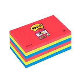 Post-it Super Sticky Notes 76x127mm Jewel Popl - 6blk/pk
