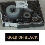 Brother TZe 354 tape 24mmx8m gold/black