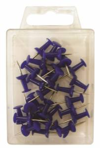 Kortnåle Push Pin blå (30 stk.)