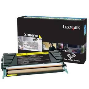 Lexmark X748 Lasertoner X748H1YG Return (10k) - Gul