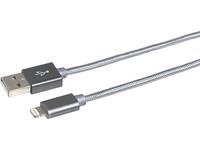 eSTUFF Lightning Kabel MFI Grå - 2m