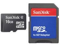 SDHC Micro 16 GB + SD Adapter