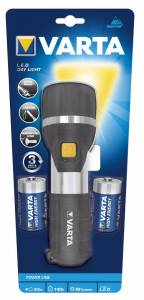 Lommelygte Varta LED Day light inkl. 2stk D batteri