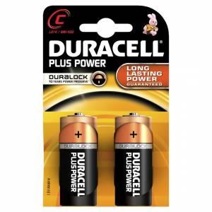 Batteri Duracell Plus Power C, LR14, 1,5V - 2stk/pak