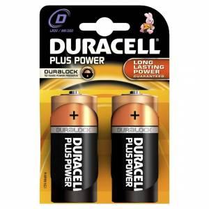 Batteri Duracell Plus Power D LR20 - 2stk/pak