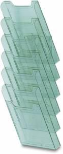 Brochurebakker t/væg Multiform 6, lodr. A4, 239x665x155mm - Transp.