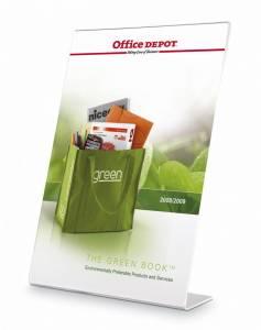 Skilteholder Office DEPOT A5 klar L-form t/bord skrå