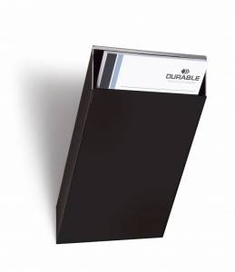 Brochureholder Flexiboxx A4 lodr. bakke t/ udvidelse - Sort