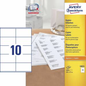 Avery (18031) Etiketter t/ kopimaskiner 57x105mm (1000)