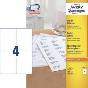 Avery (18032) Etiketter t/ kopimaskiner 105x148mm (400)