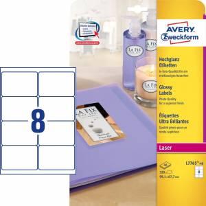 Avery (L7765-40) Blanke produkt-etiketter 99,1x67,7mm (320)