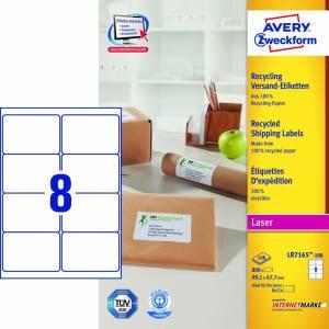 Avery (LR7165-100) adresseetiket m/QuickPEEL 99,1x67,7mm (800)