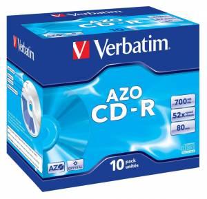 CD-R Verbatim 80min 700 MB 52X 43327 Jewelcase 10stk/pak