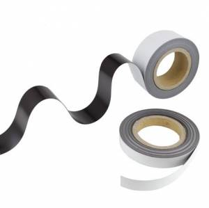 Magnetbånd 25mmx30m hvid mat 0,6mm almindelig
