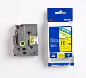 Brother TZe-641 Lamineret tape 18mm x 8m - Sort på gul