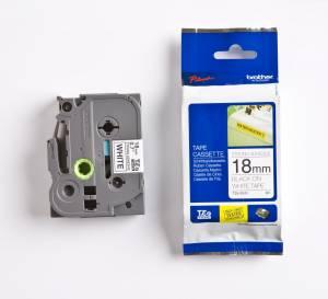 TZeS tape 18mmx8m strong black/white