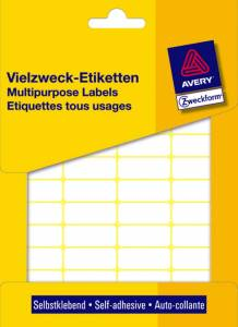 Etiket Avery (3312) håndskrivning hvid 18x12mm - 1800stk/pak
