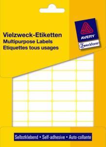 Etiket Avery (3318) håndskrivning hvid 22x18mm - 1200stk/pak