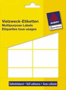 Etiket Avery (3337) håndskrivning hvid 54x35mm - 224stk/pak