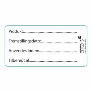 Etiket m. tryk fødevaregodkendt 60x30mm m.frostklæb - 1000stk/rl