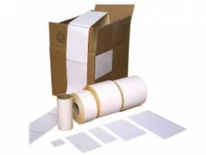 Thermoetiket hvid TOP 60x80mm Ø:40mm - 1000stk/rul