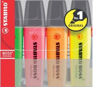 Tekstmarker Stabilo Boss 2/5mm - Sæt á 4 stk