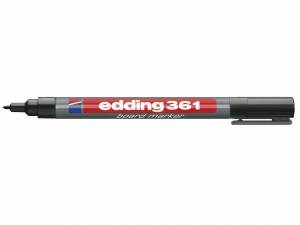Whiteboardmarker Edding 361 1mm sort 10stk/pak