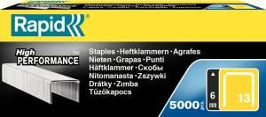 Hæfteklammer t/hæftepistol Rapid 13/6mm - 5000stk/pak