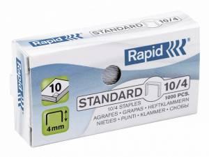 Hæfteklammer galvaniseret 10/4 Rapid standard - 1000stk/pak