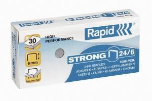 Hæfteklammer galvaniseret 24/6 Rapid strong - 1000stk/pak
