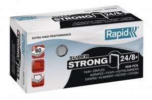 Hæfteklammer galvaniseret 24/8+ Rapid super strong - 5000stk/pak