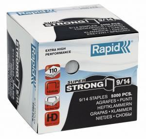 Hæfteklammer galvaniseret 9/14 Rapid SuperStrong - 5000stk/pak